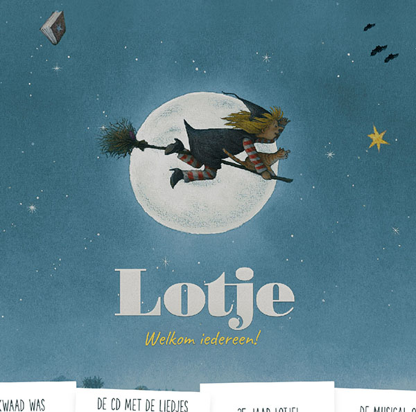 Screenshot of Lotje website homepage