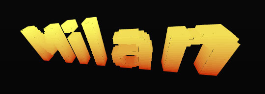 extruded text example2